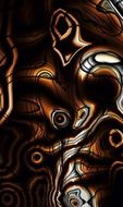 background abstract dark waves design