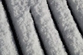 snow cover of a bench