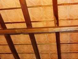 terracotta tiles ceiling pattern