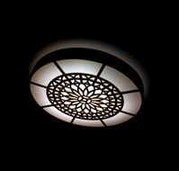lamp with abstract pattern
