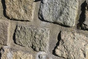 a wall of rough stone