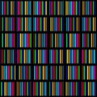 stripes of rainbow colors in squares