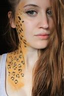 leopard print on a girl's body