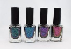 nail polish with glitters