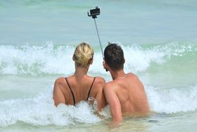 selfie people in sea
