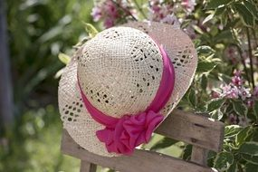 Photo of Straw hat in a garden