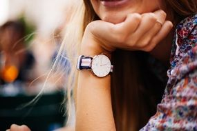 watch on a female hand