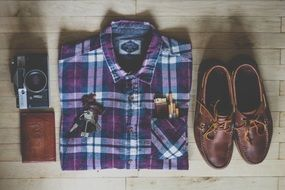 fashion shirt shoes and clothers