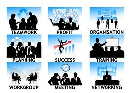 business company personal silhouettes career finance management