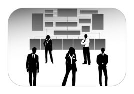 company personal black and white silhouettes