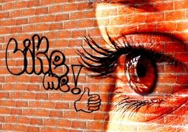 font wall woman eyes facebook