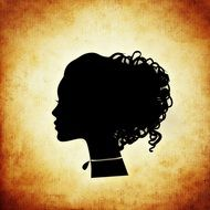 profile silhouette of a woman