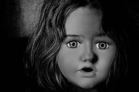 face of doll girl horror shudder fear