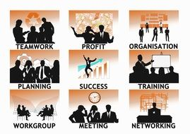 company personal silhouettes business workplace