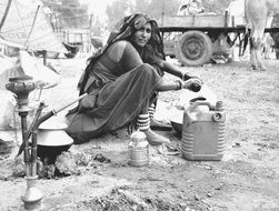 working woman in India