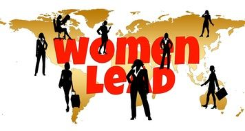 executive business woman world illustration