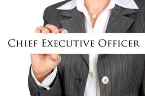 Chief Executive Officer in female hands