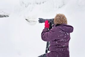 photographer Snowy winter season
