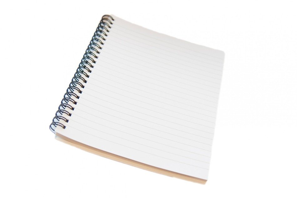 notepad notebook spiral lined