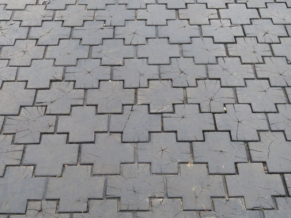 paving stones road grey color