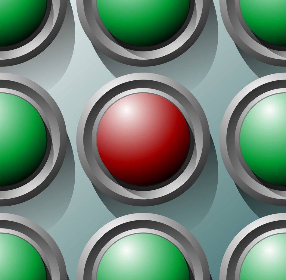 green and one red buttons circles icon symbol