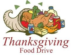 Thanksgiving Food Drive Clipart
