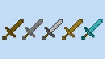 LEGO Minecraft Sword as a graphic illustration