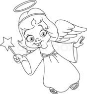 clipart of the Christmas Angel