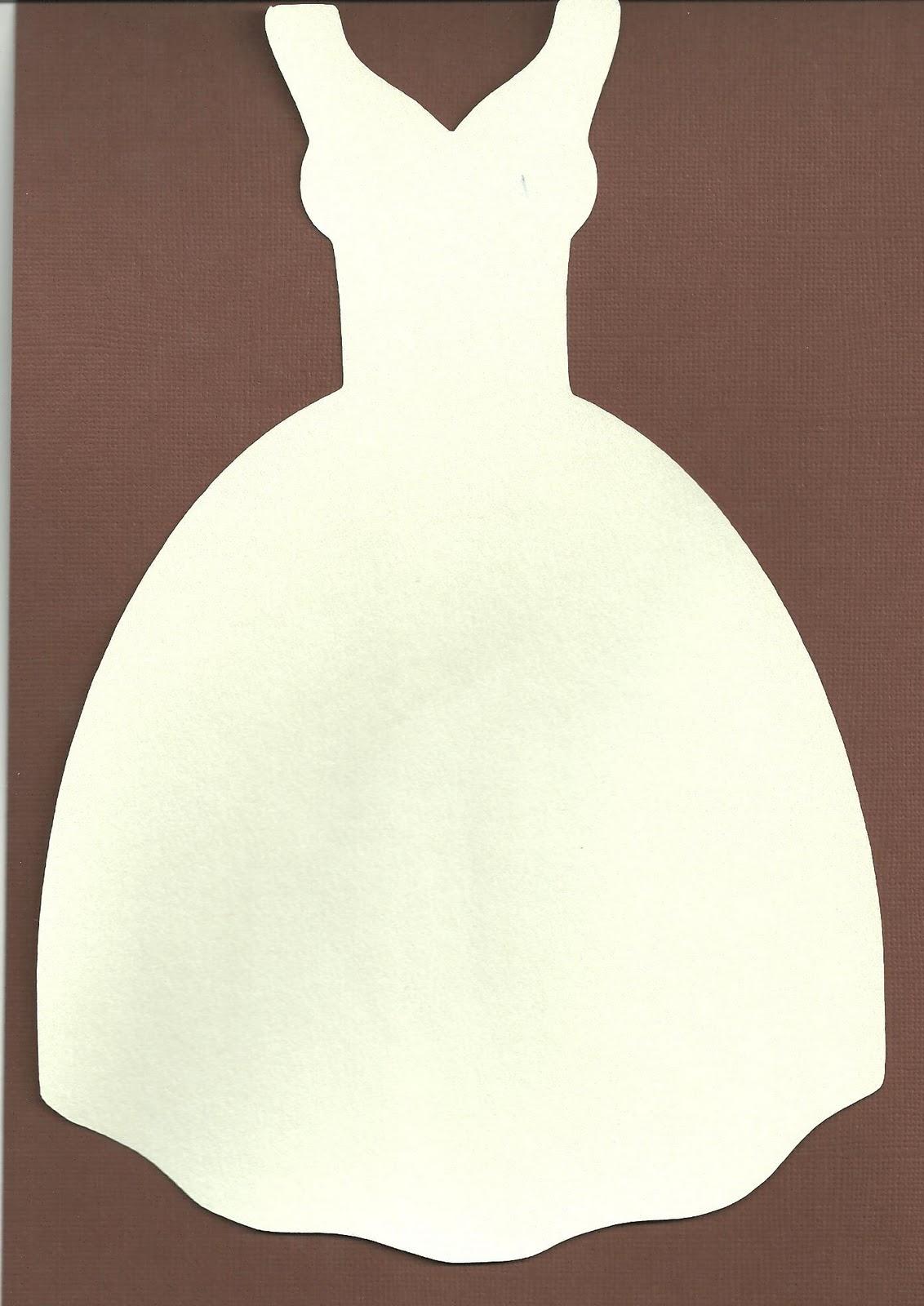 Контур платья для открытки, понивиль форма