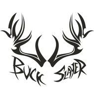 Tribal Deer Antler Decal drawing
