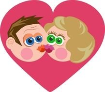 st Valentine's Day Couple Kissing Clipart