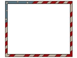 American Flag PowerPoint Template Clipart