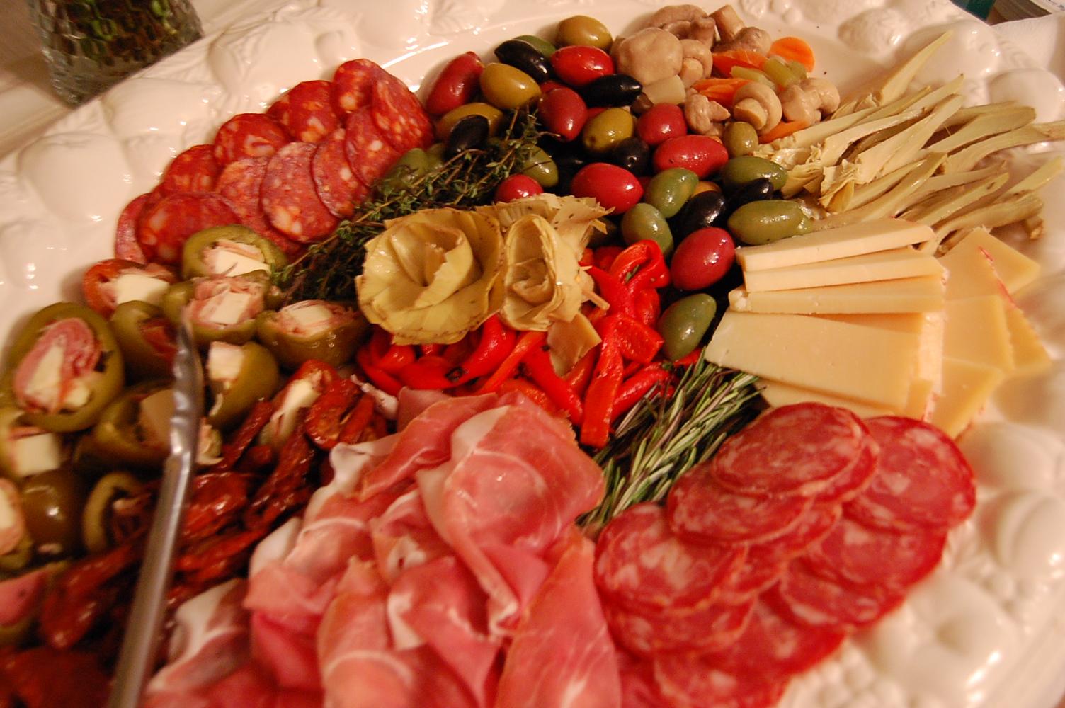 Italian Antipasto Platter Drawing Free Image