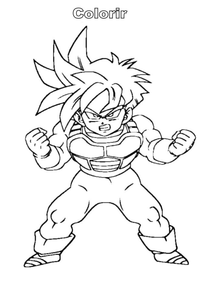 Dragon Ball Z Coloring Page Drawing Free Image