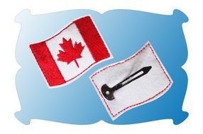 Canadian Flag Clip Art drawing