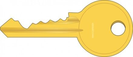 isolated drawn key