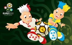 clipart of the Football Euro 2012 Wallpaper