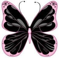 Pink Butterfly Clip Art drawing