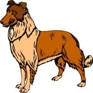 brown Running Dog drawing