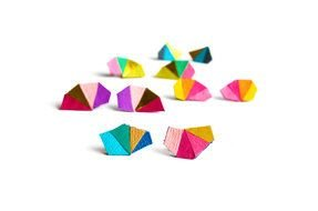 colorful Geometric Leather Earrings