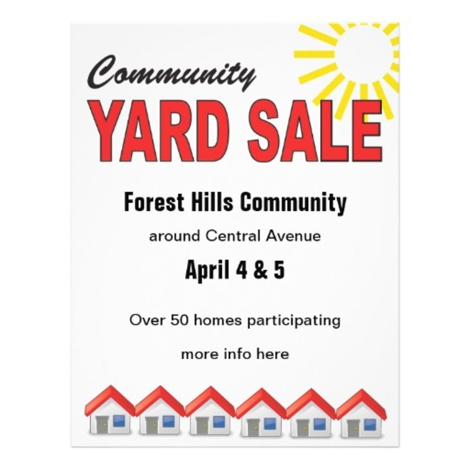 Community Yard Sale Flyer Templates Free Free Image