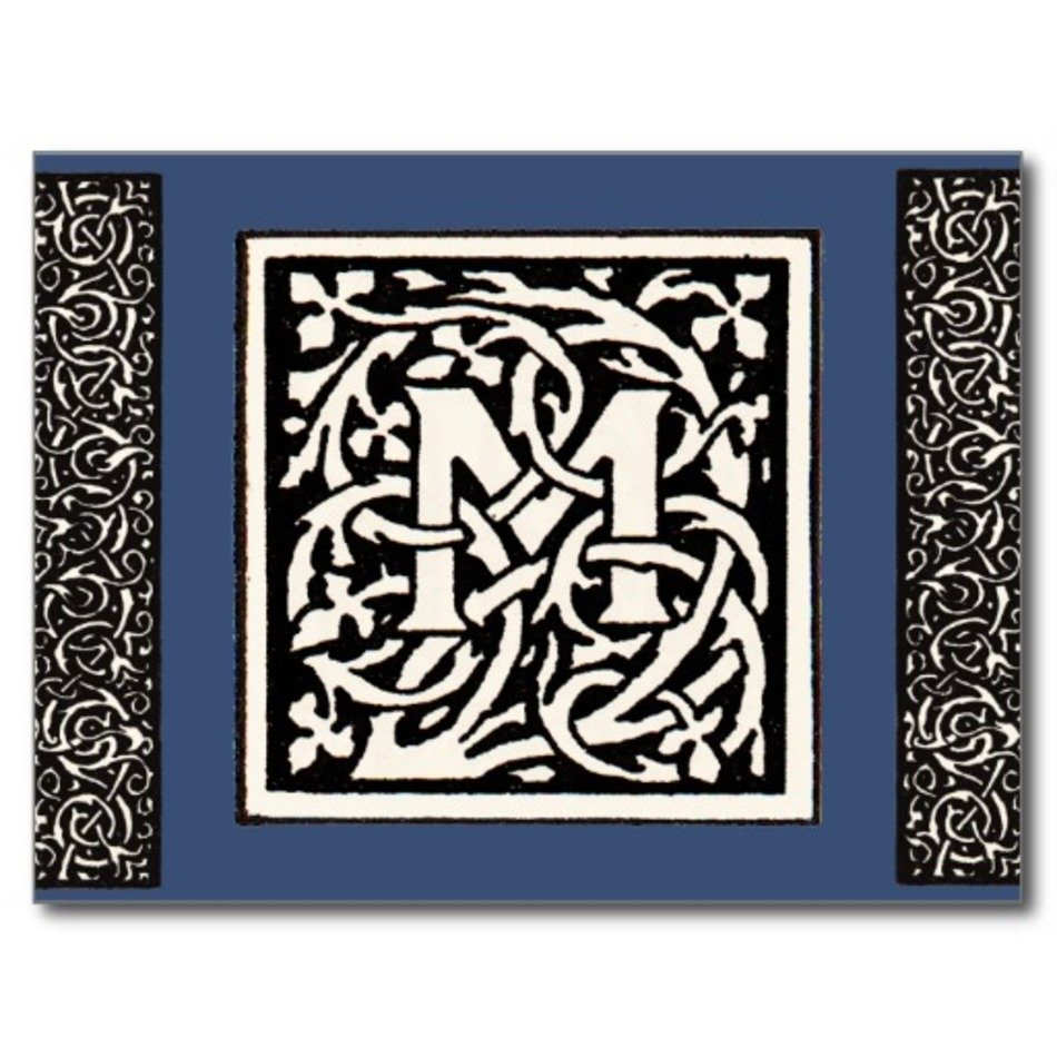 Letter M Monogram Clip Art Free Image