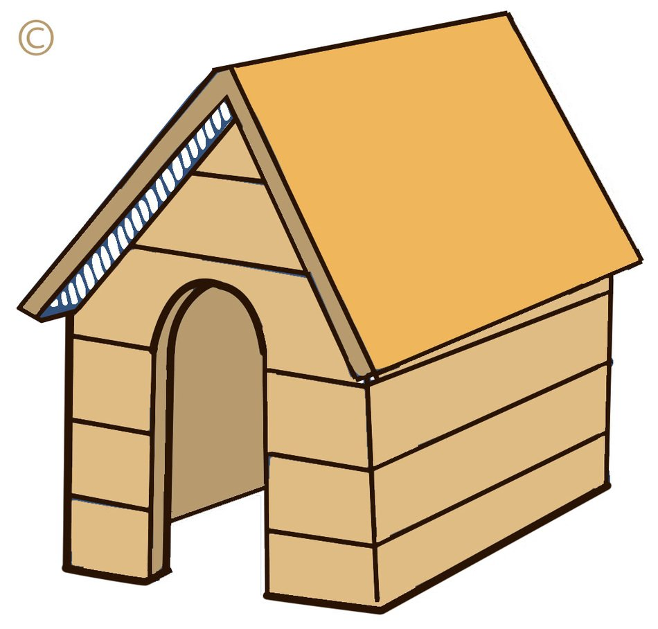 Dog House Clip Art drawing