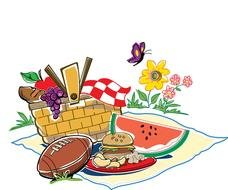 Potluck Picnic as a graphic illustration