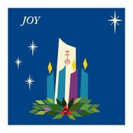 Advent Candles Hope Peace Joy Love drawing