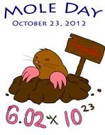 Mole Day, poster with funny animal