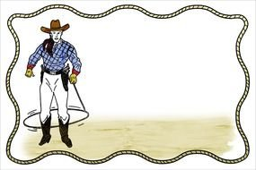 Cartoon colorful cowboy clipart