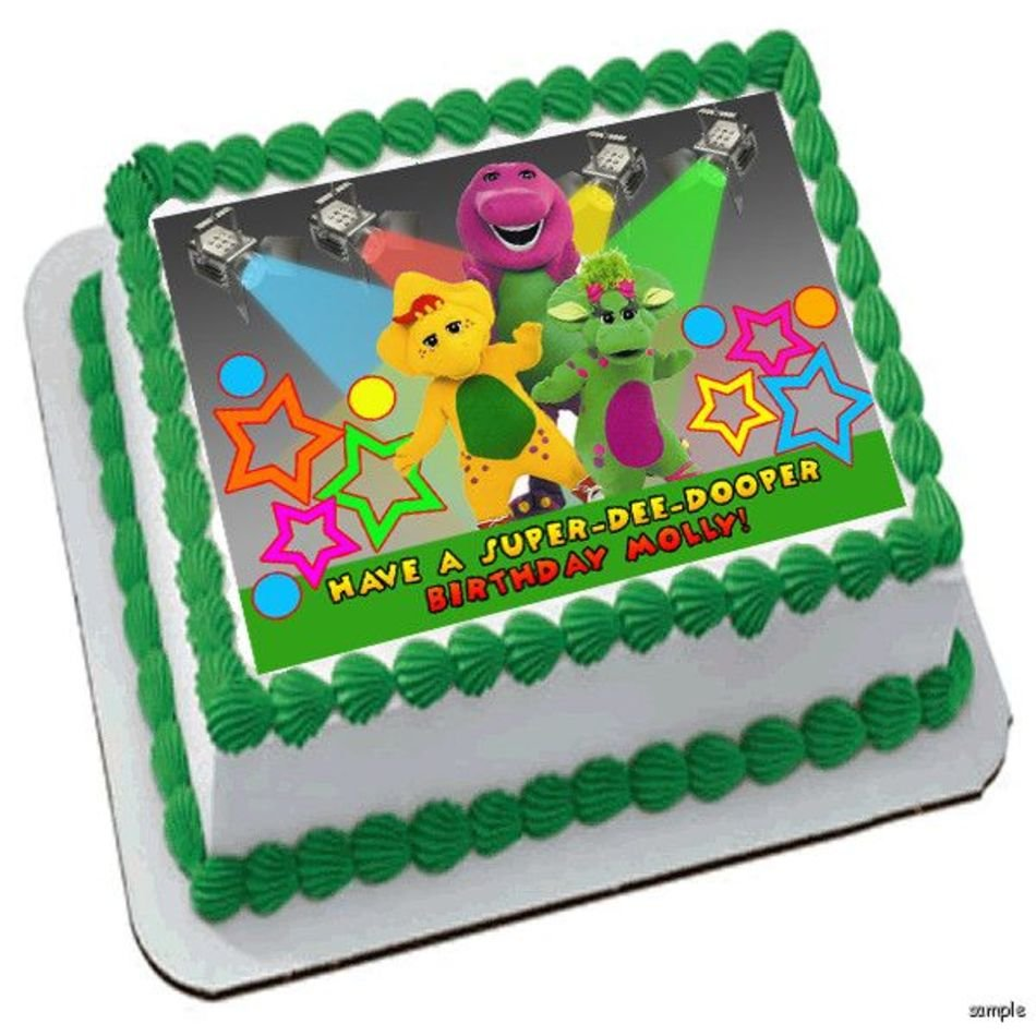 Pleasant Barney Birthday Cake Free Image Personalised Birthday Cards Cominlily Jamesorg