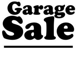Garage Sale Sign drawing