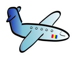 small Airplane Clip Art drawing
